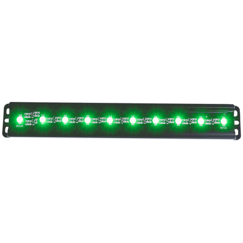 ANZO Universal 12in Slimline LED Light Bar (Green) - 861151