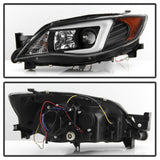 Spyder Subaru WRX 08-09 Projector Headlights - Halogen Model Only - Black PRO-YD-SWRX08-LBDRL-BK - 5083944