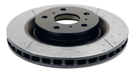 DBA 94-04 Mustang Exc. Cobra/Bullitt/Mach1 Front Drilled & Slotted Street Series Rotor - 855BLKX