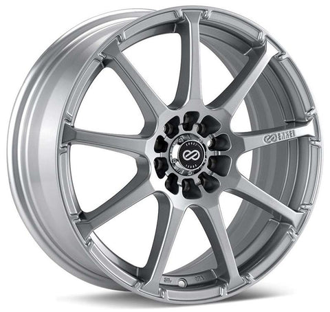 Enkei EDR9 17x8 5x105/110 38mm Offset 72.6 Bore Diameter Silver Paint Wheel - 441-780-5238SP