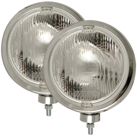 ANZO Off Road Halogen Light Universal H3 8in Round Slimline Off Road Light Chrome - 821004