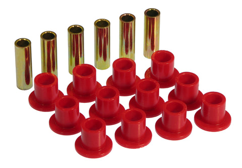 Prothane 61-68 International Scout 80/800 Spring & Shackle Bushings - Red - 9-1002