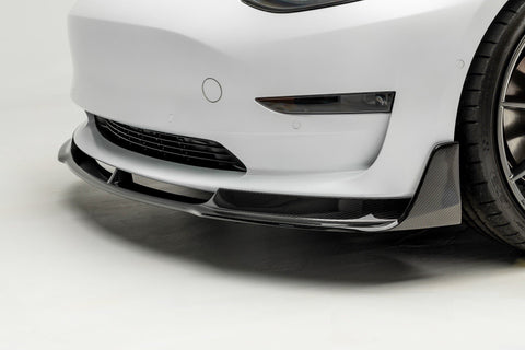 Tesla Model 3 Front Splitter / Lip Carbon Fiber by Vorsteiner
