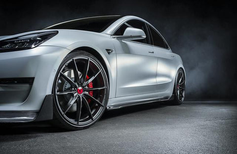 Tesla Model 3 Carbon Fiber Side Skirts by Vorsteiner TEV1030