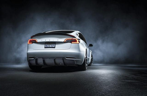 Tesla Model 3 Carbon Fiber Rear Diffuser Volta by Vorsteiner (Track Edition) TEV1050