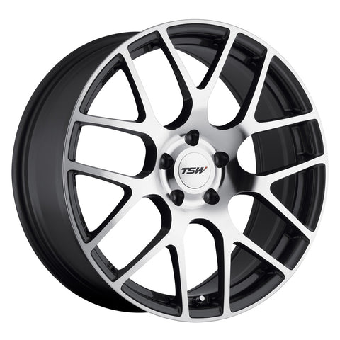 TSW Nurburgring 18x8 Gunmetal W/Mirror Cut Face Lightweight Chevy Bolt Wheel