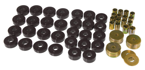 Prothane 65-67 GM Convertible Body Mount Kit - Black - 7-122-BL