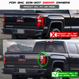 Spyder GMC Sierra 2016-2017 Light Bar LED Tail Lights - Black ALT-YD-GS16-LED-BK - 5083777