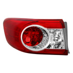 xTune 11-13 Toyota Corolla Driver Side Tail Light Outer - OEM Left ALT-JH-TC11-OE-OL - 9938825
