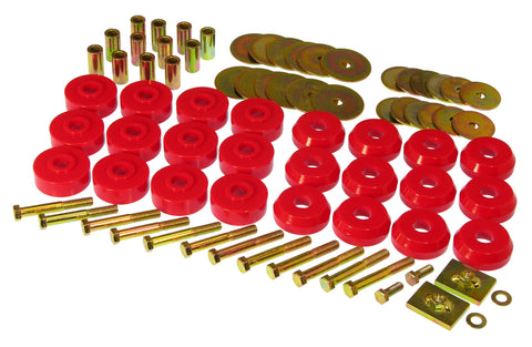 Prothane Chevy Conv Impala / Belair Body Mount Kit - Red - 7-145