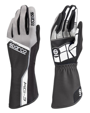 Sparco Glove Track KG3 11 Blk/Gry - 00255311NR