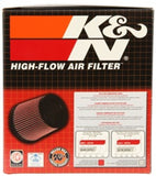 K&N Filter Universal Rubber Filter 3.75in Flange ID / 5.375in Base OD / 4.375in Top OD / 5in Height - RU-4250
