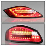 Spyder Porsche 987 Cayman 06-08 / Boxster 05-08 LED Tail Lights - Red Clear ALT-YD-P98705-LED-RC - 5083173