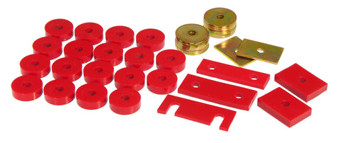 Prothane 55-57 Chevy Full Conv Only Body Mount - Red - 7-130