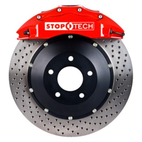 StopTech 2013 Chevy Silverado Red ST-60 Calipers 380x32mm Drilled Rotors Rear Big Brake Kit - 83.188.0068.72