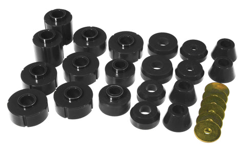 Prothane 73-77 Chevy K10 Blazer Body Mount Kit - Black - 7-106-BL