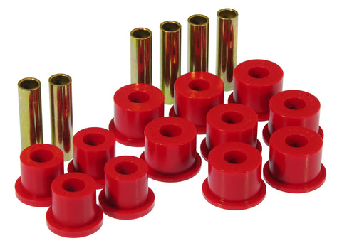 Prothane 88-98 GM 2/4wd Rear Spring & Shackle Bushings - Red - 7-1017