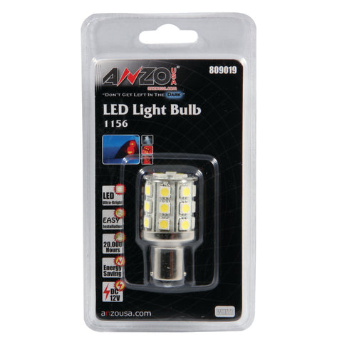 ANZO LED Bulbs Universal LED 1156 White - 24 LEDs 2in Tall - 809019