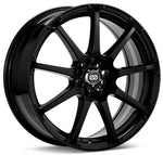 Enkei EDR9 17x8 5x105/110 38mm Offset 72.6 Bore Diameter Black Paint Wheel - 441-780-5238BK