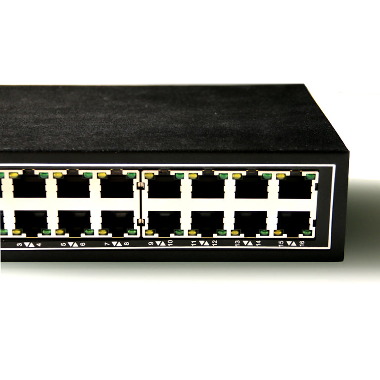 WDH-16ET-DC 10/100Mbps 16-Port Industrial Ethernet Switches with DIN Rail/Wall-Mount (UL Listed, Fanless, -30°C~75°C)