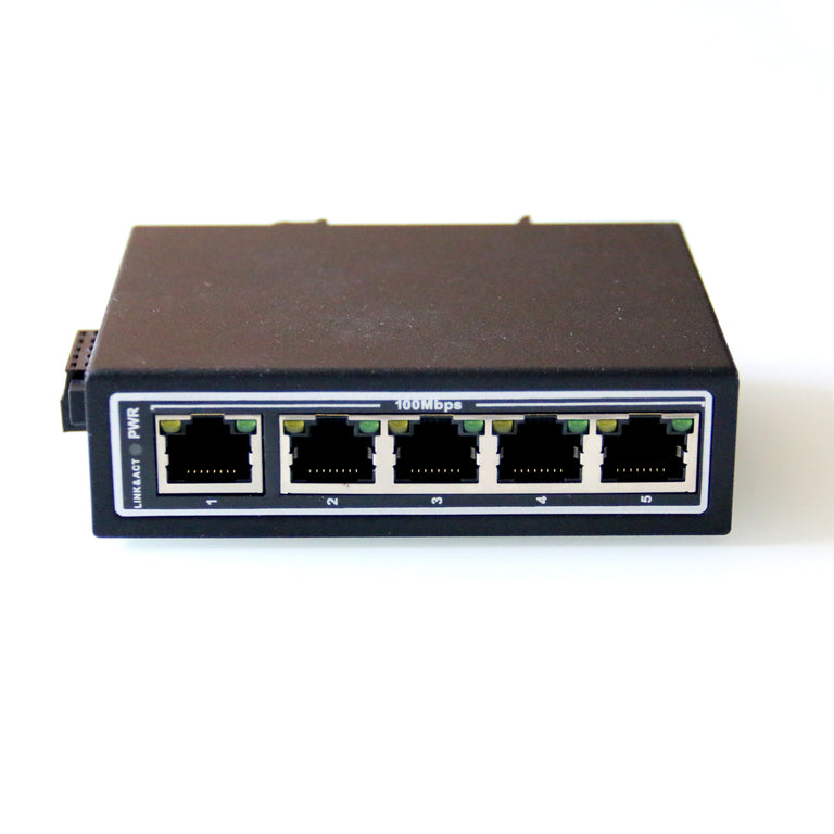 WX-5ET-S Mini 10/100Mbps 5-Port Industrial Ethernet Switches