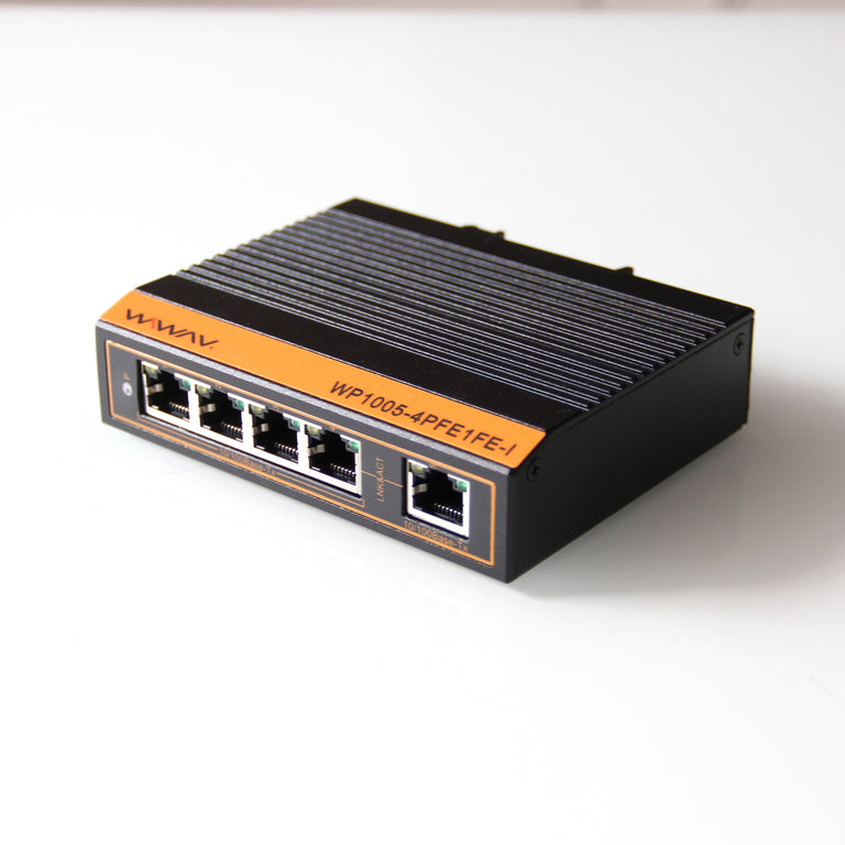 WP1005-5FE-I 10/100Mbps PoE 5-Port Industrial Ethernet Switches (Fanless, -40°C~85°C)