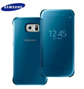 Galaxy S6 Clear View Cover Flip Blue