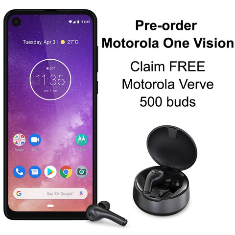 Motorola One Vision and sapphire earbud offer