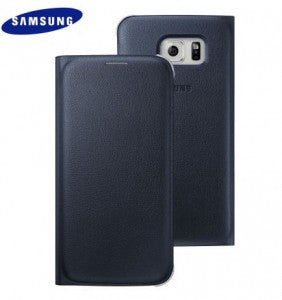 Samsung Galaxy S6 Flip Wallet Cover PU in Black