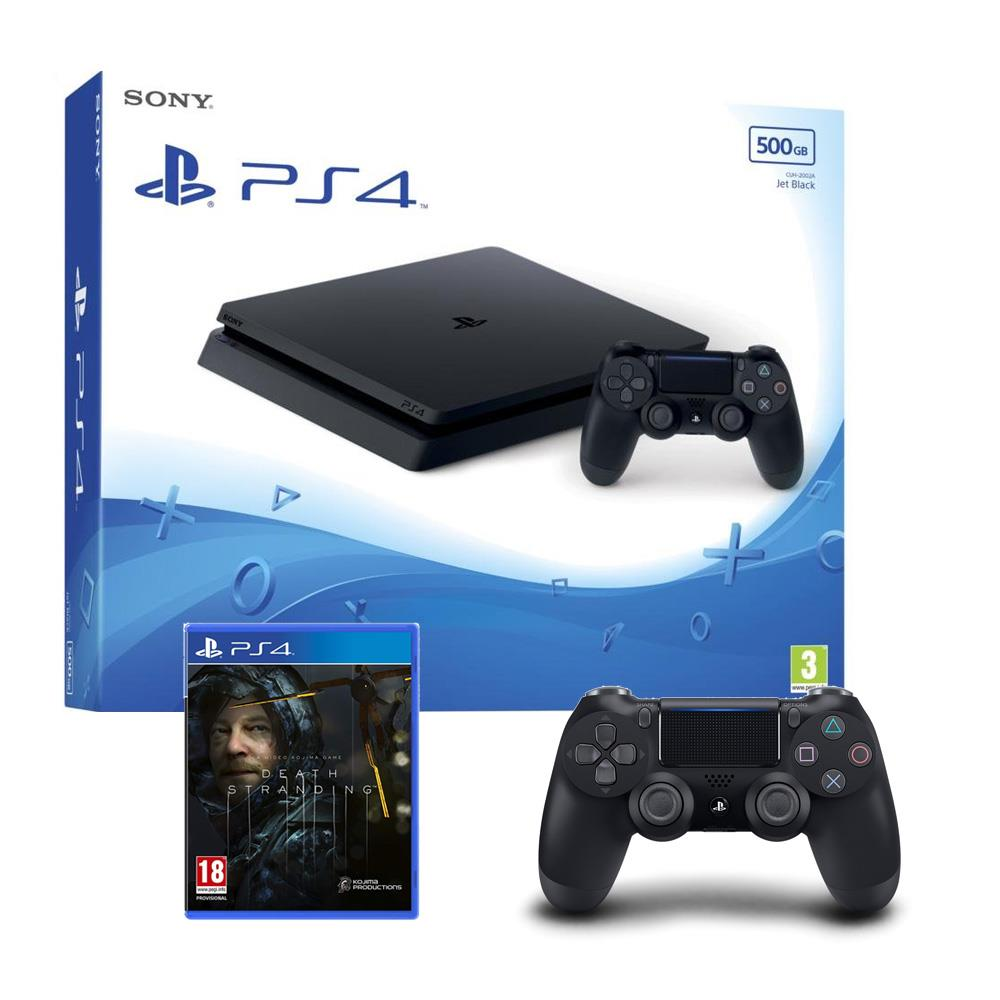 Sony PlayStation 4 - 500GB - Black with Extra DUALSHOCK 4 Controller