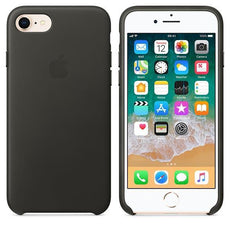 Apple iPhone 8 Leather Case - Charcoal Grey