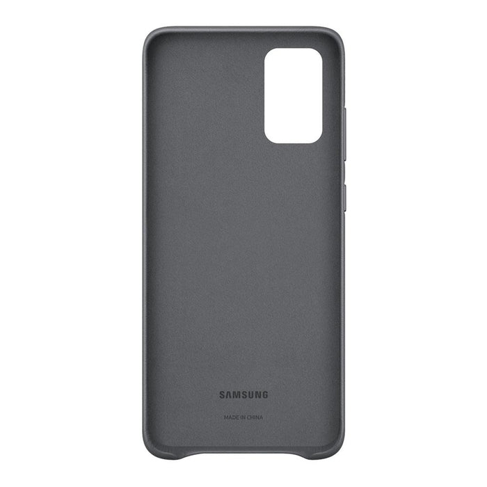 Samsung Galaxy S20 Plus Leather Cover - Gray