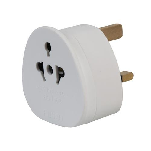 EU to UK Travel Adapter (13A Fused)