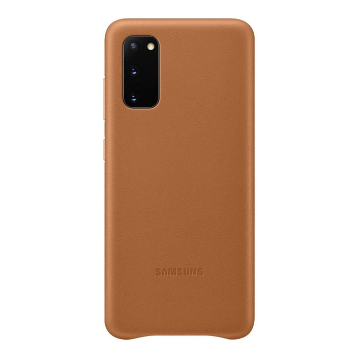 Samsung Galaxy S20 Leather Cover - Brown