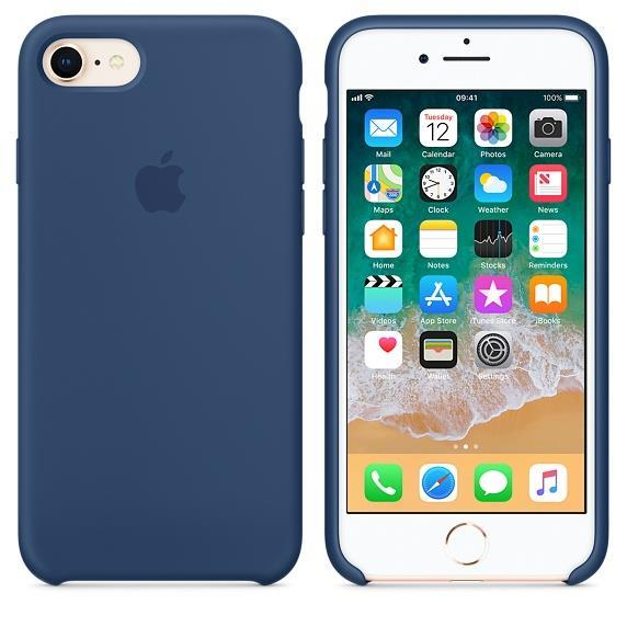 Apple iPhone 7 Silicone Case - Blue Cobalt
