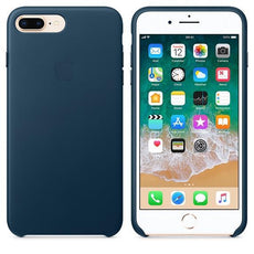 Apple iPhone 7 Plus Leather Case - Cosmos Blue