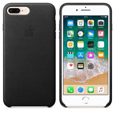 Apple iPhone 8 Plus Leather Case - Black
