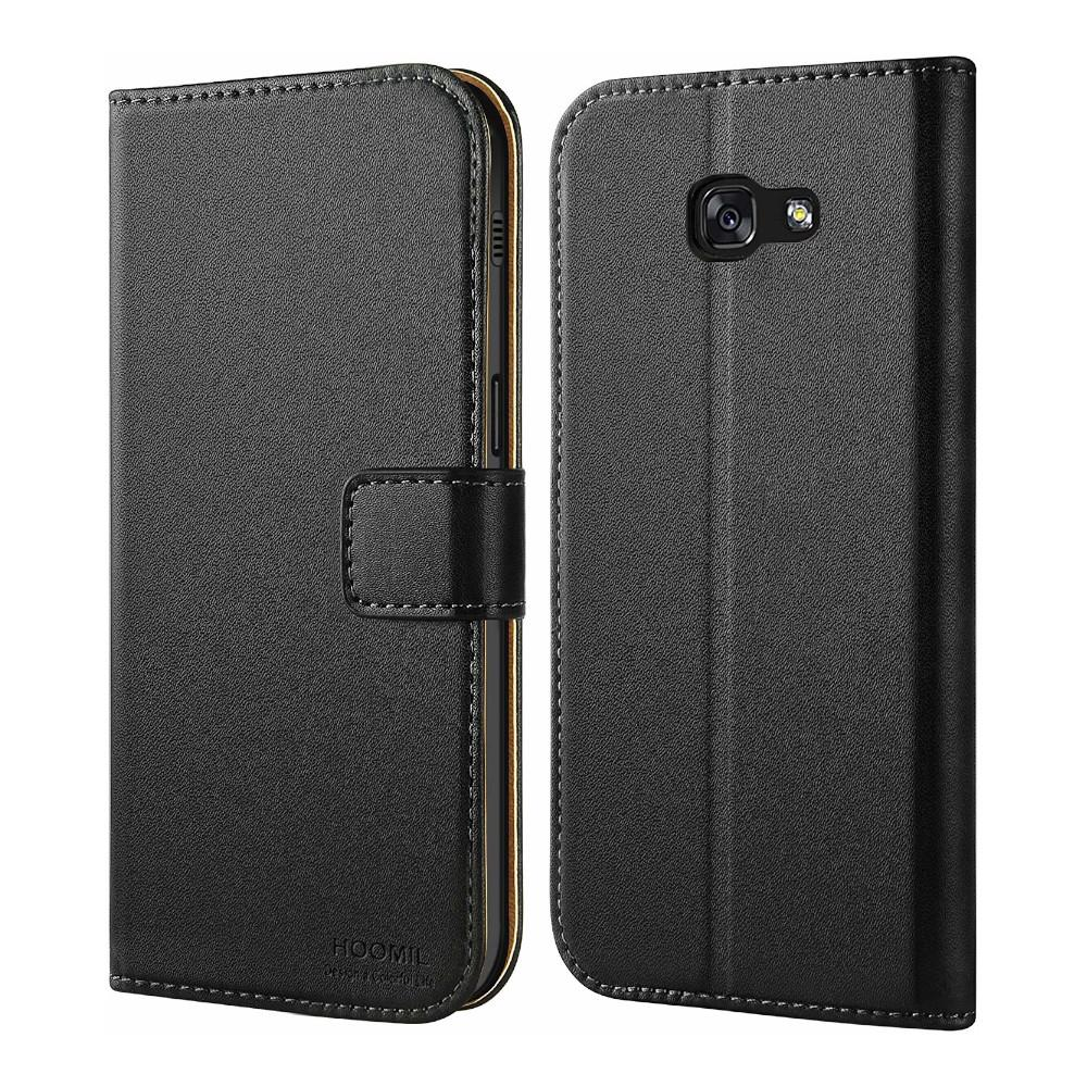 Leather Wallet Case - Samsung Galaxy A5 (2017 Edition) - Carbon Black