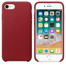 Apple iPhone 8 Leather Case - (PRODUCT)RED