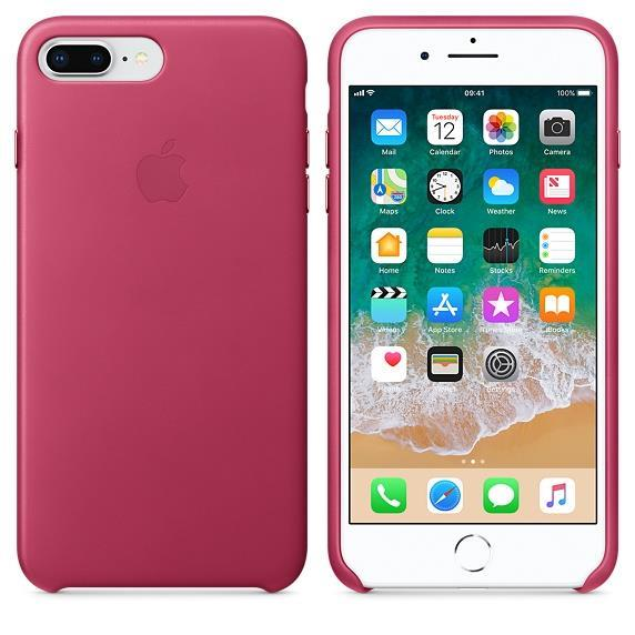 Apple iPhone 7 Plus Leather Case - Pink Fuschia