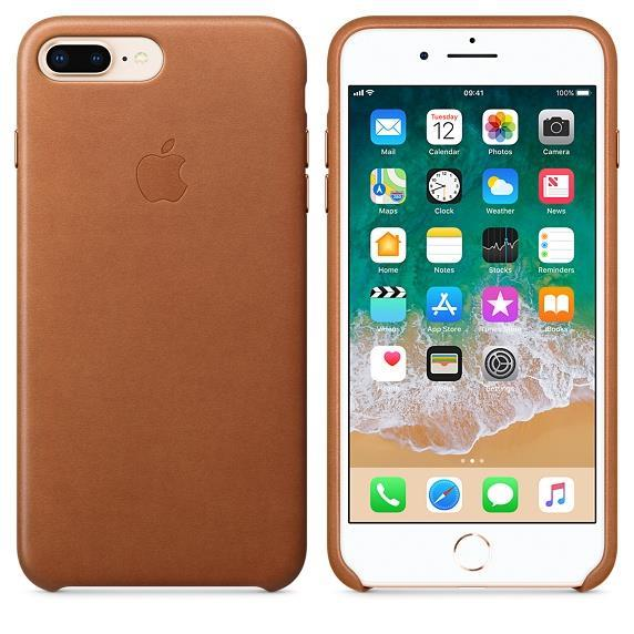 Apple iPhone 8 Plus Leather Case - Saddle Brown