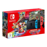Nintendo Switch - Neon Red and Neon Blue - Mario Kart 8 Deluxe Bundle