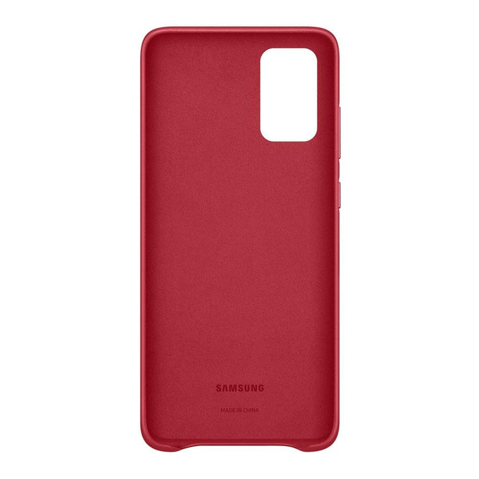 Samsung Galaxy S20 Plus Leather Cover - Red
