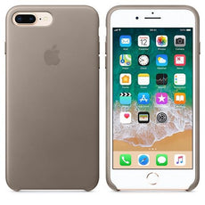 Apple iPhone 8 Plus Leather Case - Taupe