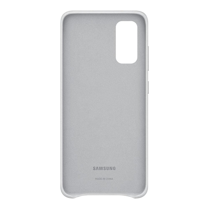 Samsung Galaxy S20 Leather Cover - Light Gray