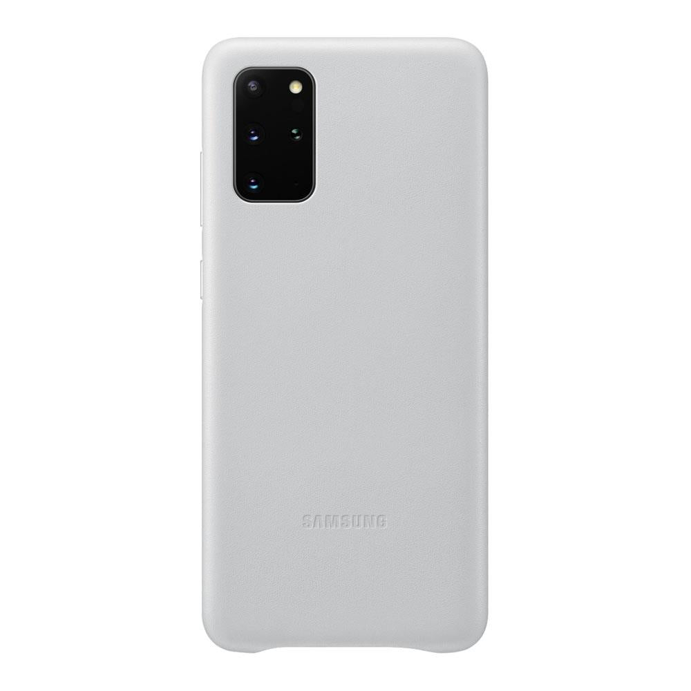 Samsung Galaxy S20 Plus Leather Cover - Light Gray