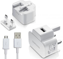 Samsung 2A/5V UK USB Charger with Micro USB Cable - White