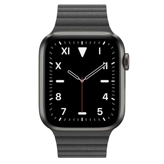 Apple Watch Series 5  - Space Black Titanium Edition - Leather Loop