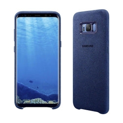 Samsung Galaxy S8 Plus Alcantara Cover Case - Blue