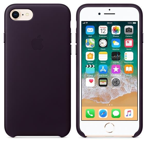 Apple iPhone 8 Leather Case - Dark Aubergine